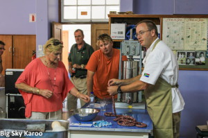 Chef Gordon Wright gave demonstrations on how to make venison sausage.
