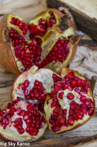 Some of the Karoo's newest produce includes pomegranates.