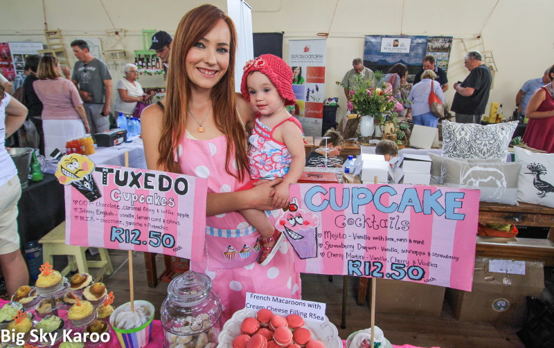 Lucinde Roux came with macaroons and wicked cupcakes, and her baby Amy Lee.