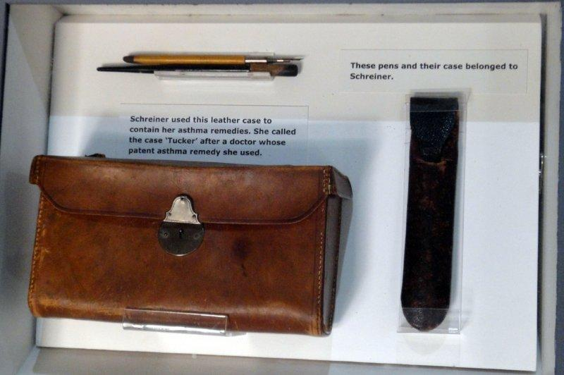 Some of Olive Schreiner's most treasured possessions included her medicine bag and her pens