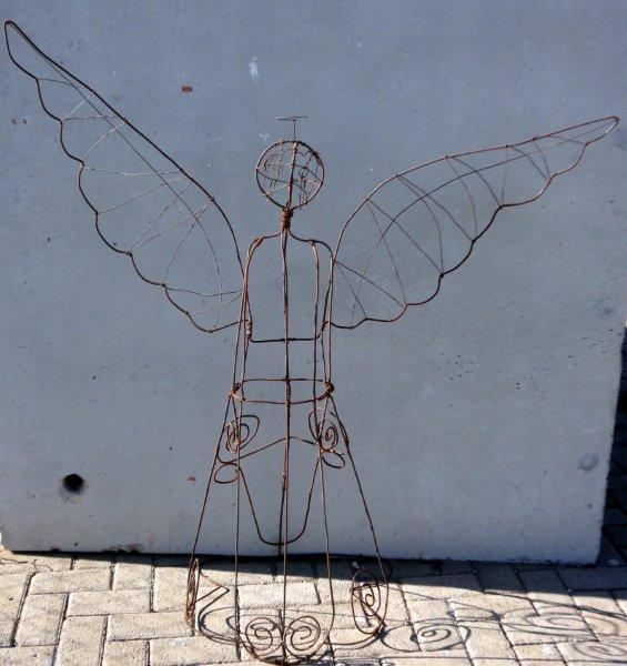 A delicate handmade wire angel guarding the Karoo
